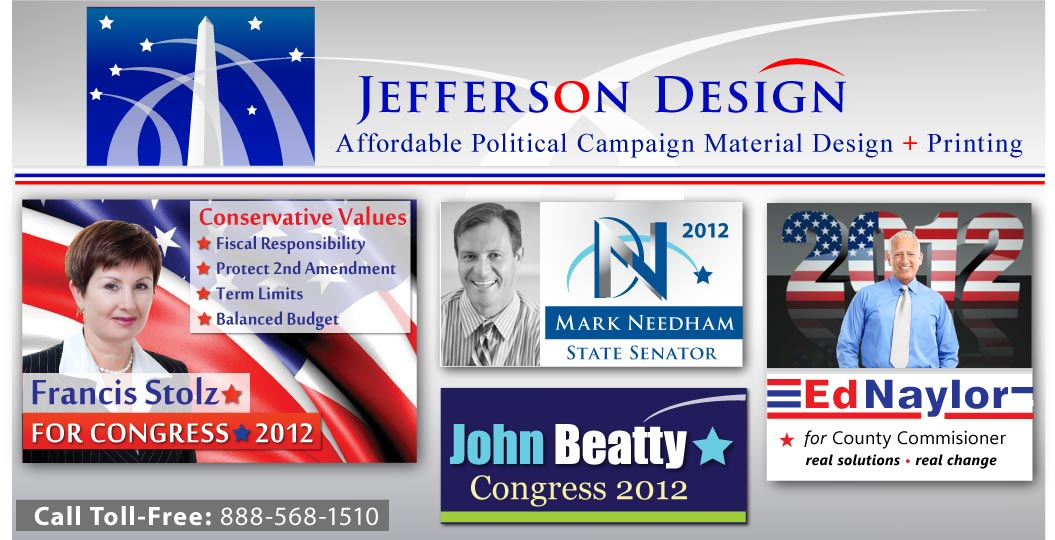Campaign Push Cards - Palm Cards, Poltical Campaign Postcards